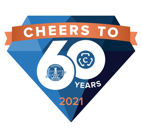 COPAS Celebrates 60th Anniversary - 60 Year Anniversary icon - Council of Petroleum Accountants Societies