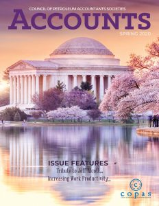 Spring 2020 - ACCOUNTS Spring 2020 Cover - Council of Petroleum Accountants Societies