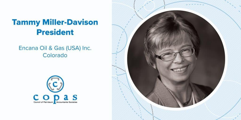 Meet Tammy Miller-Davison - Blog image COPAS Member Spotlights Tammy Miller Davidson FA Email - Council of Petroleum Accountants Societies